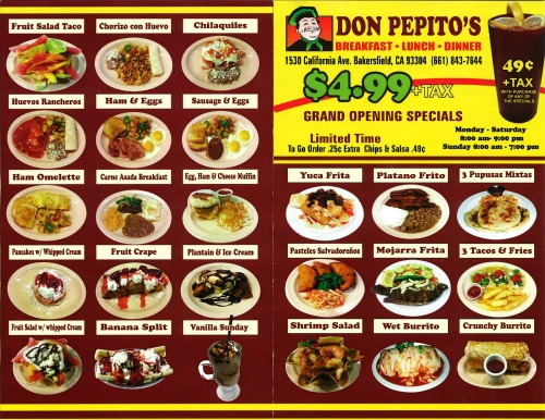 Don Pepitos menu pg1