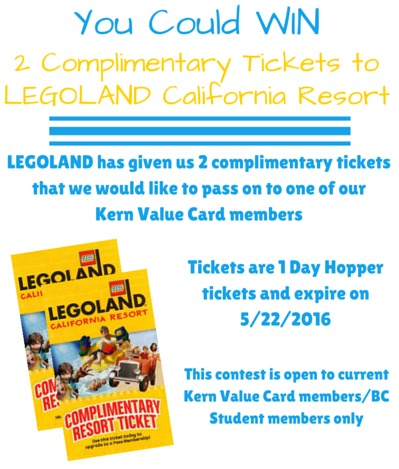 Legoland comp tickets contest for CC